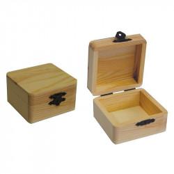 Κουτάκι ξύλινο τετράγωνο 8x8cm 24272