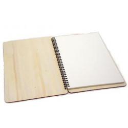 Ξύλινο σημειωματάριο σπιράλ 18x13cm