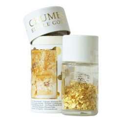 Edible gold leaf in grated,...