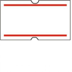 21x12 label strips with red line