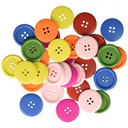Handicraft buttons colored...