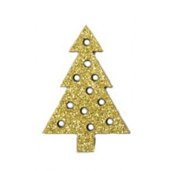 GLITTER GOLD tree set of 12...