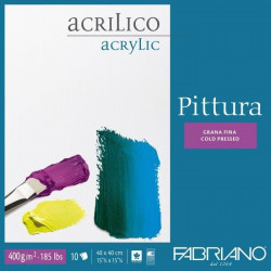 FABRIANO ACRYLIC PAD PITTURA 40x40cm, 400gr