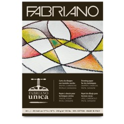 Μπλοκ FABRIANO UNICA A4, for dry techniques