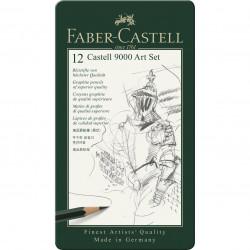 Σετ 12 μολύβια σκληροτήτων FABER-CASTELL 9000, 119065