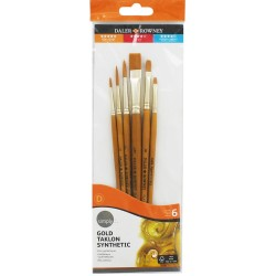 Brushes DALER-ROWNEY simply gold set 6 pieces, 216 920 600