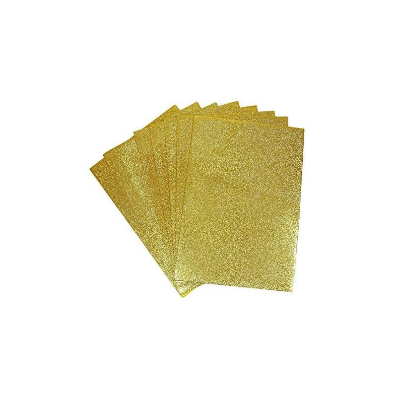 Αφρώδη φύλλα με GLITTER Α4 GOLD