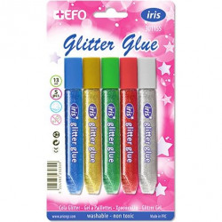 GLITTER GLUE EFO 5x10ml