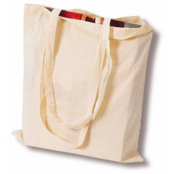 Τσάντα υφασμάτινη με μακρύ χερούλι 38x42cm