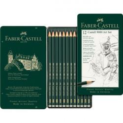 Σετ 12 μολύβια σκληροτήτων FABER-CASTELL 9000