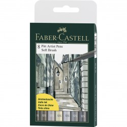 Painting markers FABER CASTELL SOFT BRUSH GRAY WALLET 167808