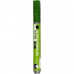 Μαρκαδόρος πορσελάνης και γυαλιού GREEN GLITTER 31308