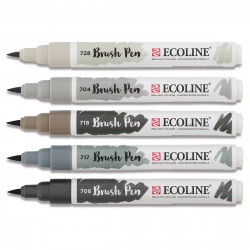 Μαρκαδόροι TALENS ECOLINE BRUSH PEN GREY
