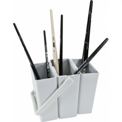 Brush cleaning container...