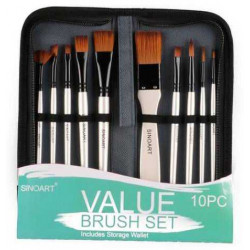 SINOART VALUE BRUSH SET 10pcs