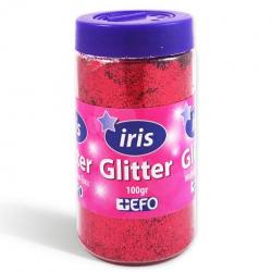 Χρυσόσκονη glitter κόκκινο IRIS 100gr