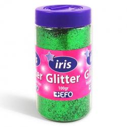 Χρυσόσκονη glitter πράσινο IRIS 100gr