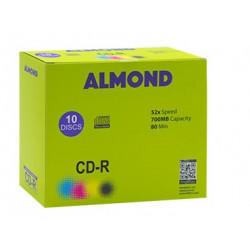CD-R ALMOND, κουτί με 10 CDs