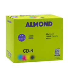 CD-R ALMOND, box with 10 CDs