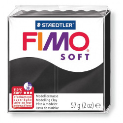 Πηλός FIMO SOFT 56gr BLACK No 9