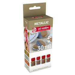 Ακρυλικά TALENS ART CREATION METALLIC BASIC 4x30ml