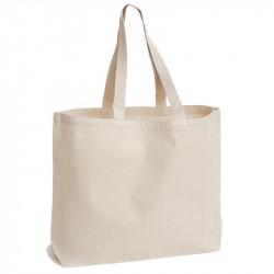 Τσάντα υφασμάτινη με μακρύ χερούλι και πάτο 38x44x14cm