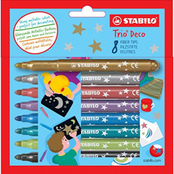 STABILO TRIO DECO METALLIC...