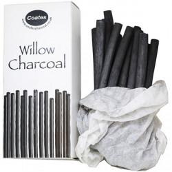 Κάρβουνο φυσικό COATES, πάχους 8-10mm, σετ 25 τεμαχίων