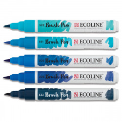 Markers TALENS ECOLINE BRUSH PEN BLUES