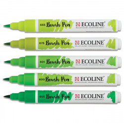 Μαρκαδόροι TALENS ECOLINE BRUSH PEN GREENS
