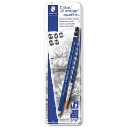 Set of 5 watercolor graphite pencils STAEDTLER MARS LUMOGRAPH 100AG6