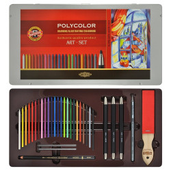 Painting set with Coloured...
