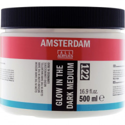 GLOW IN THE DARK MEDIUM AMSTERDAM 122, 500ml