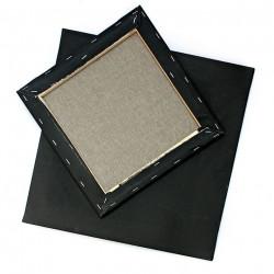 Black Streched Canvas 30x30cm