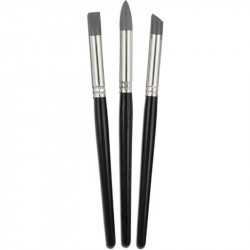 Silicone brushes set of 3 pieces MEYCO 14237