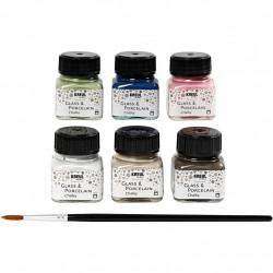 Χρώματα για γυαλί-πορσελάνη KREUL 6x20ml, CHALKY SET