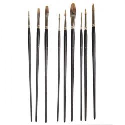 GRACEART 9-piece painting brushes set