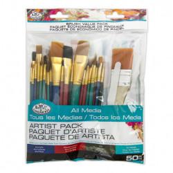 Πινέλα ζωγραφικής ROYAL RSET-9388 σετ 50 τεμαχίων