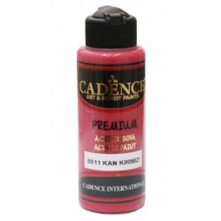 Acrylic paint color CADENCE BLOOD RED 0011