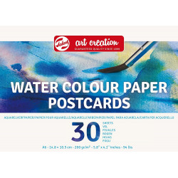 TALENS ART CREATION WATERCOLOUR PAPER POSTCARDS, A6