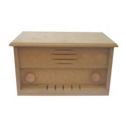 Wooden radio box 32X16X14cm