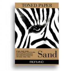 Pad FABRIANO TONED PAPER SAND A4 19100496