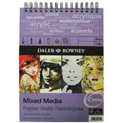 Μπλοκ MIXED MEDIA DALER ROWNEY A5, 250gr