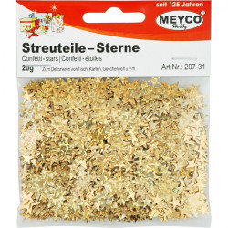 Gold crafts stars MEYCO 207-31