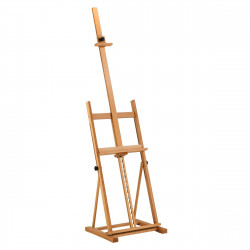 Easel with square base...