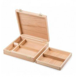 Wooden painting case with 2...