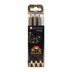 Markers SAKURA BLACK & GOLD...