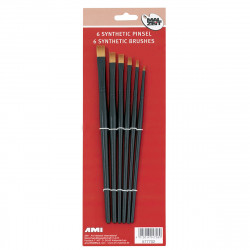 Brushes synthetic set of 6...