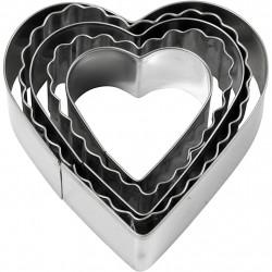 Hearts metal clay cup...