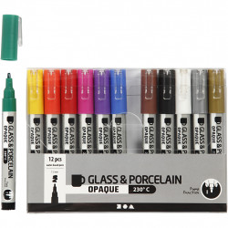 Markers for glass-porcelain...